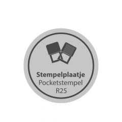 Tekstplaatje Colop Pocket R25