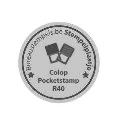 Tekstplaatje Colop Pocket R40