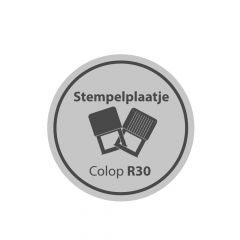 Tekstplaatje Colop Pocket R30