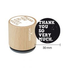 """Houten handstempel """"Woodies"""" 